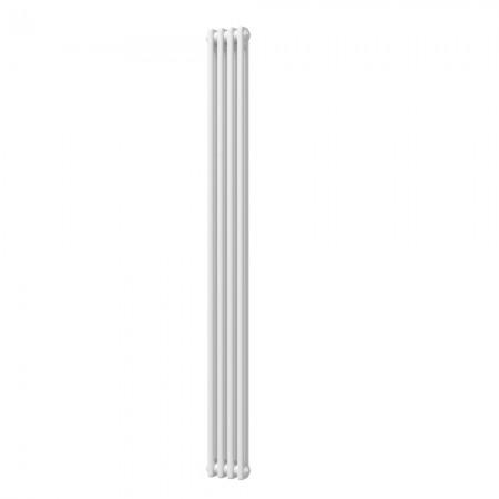 Alpha - White Vertical Column Radiator - H1800mm x W196mm - 2 Column