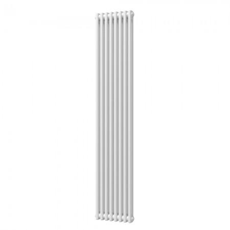 Alpha - White Vertical Column Radiator - H1800mm x W372mm - 2 Column