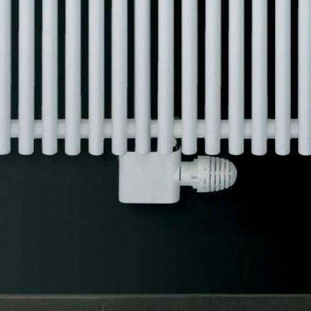 Central - White Thermostatic Radiator Valve - Angled