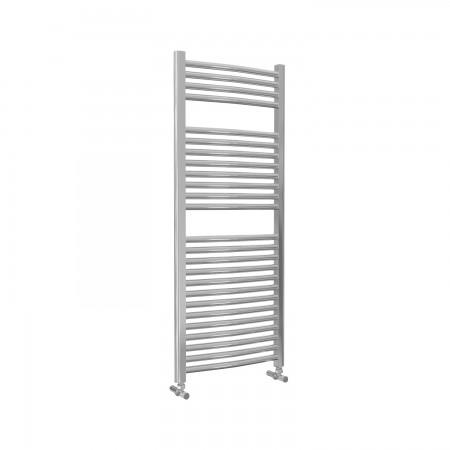 Roma - Chrome Heated Towel Rail - H1230mm x W500mm - Curved
