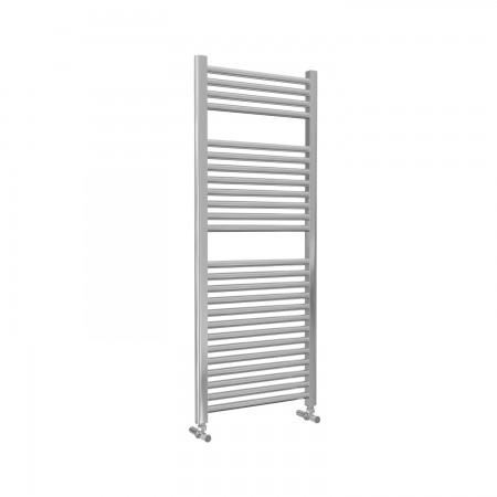 Roma - Chrome Heated Towel Rail - H1230mm x W500mm - Straight
