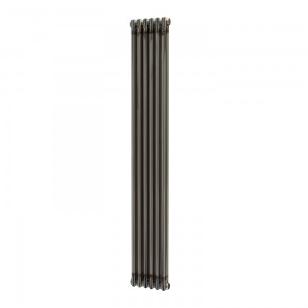 Metalico - Raw Metal Vertical Column Radiator - H1800mm x W290mm - 2 Column