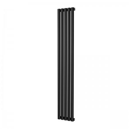 Omega - Black Vertical Radiator - H1600mm x W290mm - Single Panel