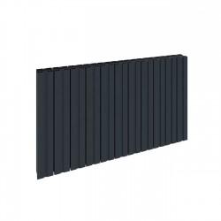 Bova - Anthracite Horizontal Radiator - H600mm x W470mm - Single Panel