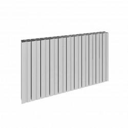 Bova - Oxidised Aluminium Horizontal Radiator - H600mm x W470mm - Double Panel