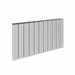Bova - Oxidised Aluminium Horizontal Radiator - H600mm x W1230mm - Single Panel