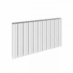 Bova - White Horizontal Radiator - H600mm x W470mm - Single Panel