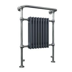 Adara - Anthracite Traditional Towel Radiator - H963mm x W673mm - Floor Standing