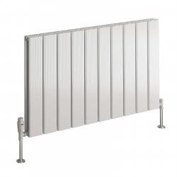 Stadia - Oxidised Aluminium Horizontal Radiator - H600mm x W415mm - Double Panel