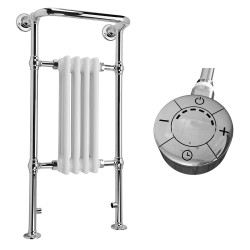 Adara - Traditional Electric Towel Radiator - H963mm x W493mm - 300w Thermostatic