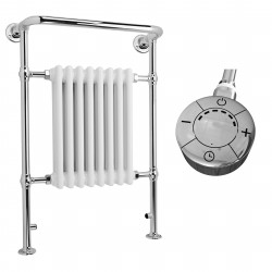Adara - Traditional Electric Towel Radiator - H963mm x W673mm - 600w Thermostatic