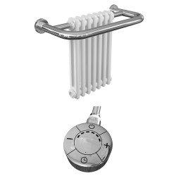 Adonia - Traditional Electric Towel Radiator - H491mm x W623mm - 300w Thermostatic