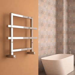 Ajax II - Anodised Aluminium Towel Radiator - H450mm x W600mm