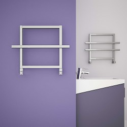 Ajax I - Anodised Aluminium Towel Radiator - H450mm x W600mm