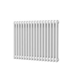 Alpha - White Column Radiator - H600mm x W768mm - 2 Column