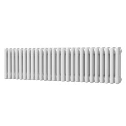 Alpha - White Column Radiator - H300mm x W1177mm - 3 Column