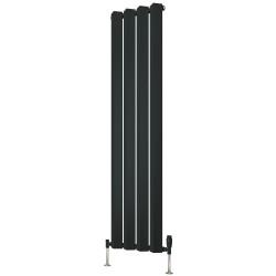 Alp - Anthracite Vertical Radiator - H1800mm x W318mm