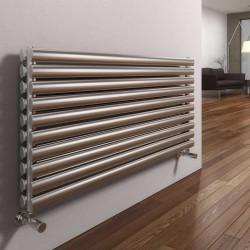 Artena - Stainless Steel Horizontal Radiator - H590mm x W400mm - Double Panel