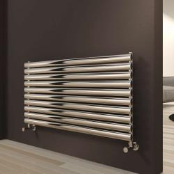 Artena - Stainless Steel Horizontal Radiator - H590mm x W400mm - Single Panel