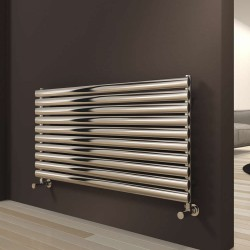 Artena - Stainless Steel Horizontal Radiator - H590mm x W800mm - Single Panel