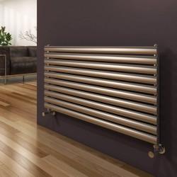 Artena - Stainless Steel Horizontal Radiator - H590mm x W600mm - Single Panel