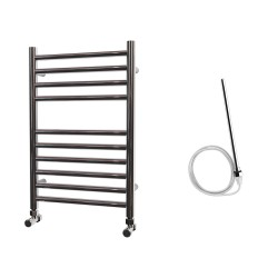 Astra - Stainless Steel Electric Towel Rail - H600mm x W400mm - Straight - 300w Standard