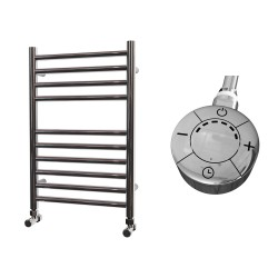 Astra - Stainless Steel Electric Towel Rail - H600mm x W400mm - Straight - 300w Thermostatic
