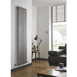 Aspen - Stainless Steel Vertical Radiator - H1800mm x W310mm - Single Panel