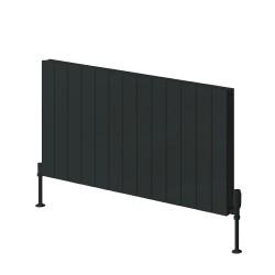 Casina - Anthracite Horizontal Radiator - H600mm x W470mm - Single Panel