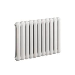 Coneva - White Horizontal Radiator - H550mm x W440mm - 6 Columns