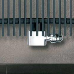 Central - Chrome Thermostatic Radiator Valve - Angled