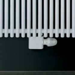 Central - White Thermostatic Radiator Valve - Angled
