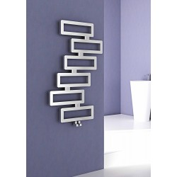 Carisa Domino Stainless Steel Designer Heated Towel Rail 1280mm x 800mm