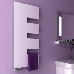 Ella - White Towel Radiator - H1200mm x W500mm