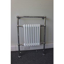 Flap - Stainless Steel Towel Radiator - H850mm x W840mm - Brushed