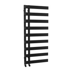 Agora - Black Towel Radiator - H1156mm x W500mm