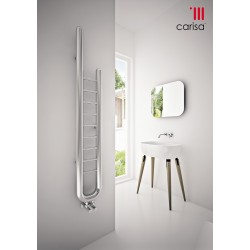 Kare - Stainless Steel Towel Radiator - H856mm x W270mm - Brushed