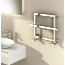 Lago - Chrome Towel Radiator - H450mm x W600mm