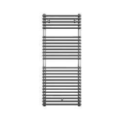 Lazzarini Catania Straight Chrome Designer Heated Towel Rail 915mm x 450mm Electric Only - Thermostatic