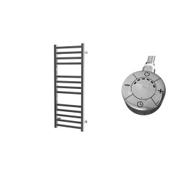 Leonora - Stainless Steel Electric Towel Rail - H1000mm x W400mm - Straight - 300w Thermostatic