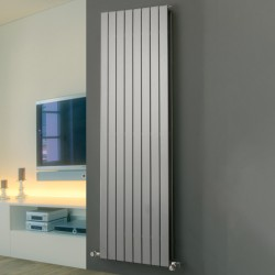 Mars Duo - Silver Vertical Radiator - H1800mm x W445mm