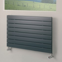 Mars - Anthracite Horizontal Radiator - H595mm x W600mm - Single Panel