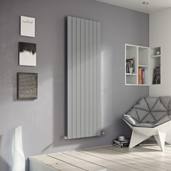 Mars - Silver Vertical Radiator - H1200mm x W595mm - Single Panel