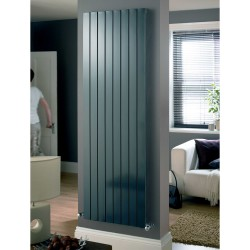 Mars - Anthracite Vertical Radiator - H600mm x W445mm