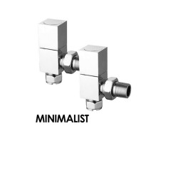 Carisa Minimalist Radiator & Towel Rail Valve Chrome
