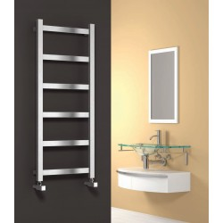 Mina - Stainless Steel Towel Radiator - H750mm x W480mm - Brushed