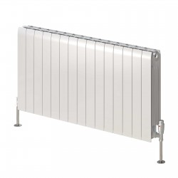 Miray - White Horizontal Radiator - H430mm x W400mm - Double Panel