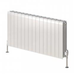 Miray - White Horizontal Radiator - H580mm x W400mm - Double Panel
