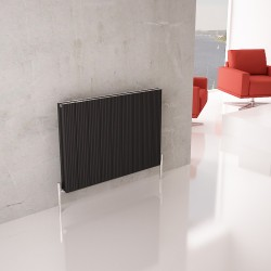 Carisa Monza Black Horizontal Designer Radiators