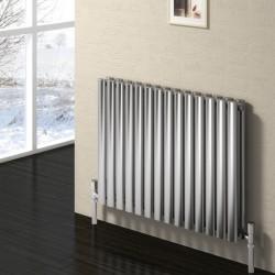 Nerox - Stainless Steel Horizontal Radiator - H600mm x W413mm - Double Panel